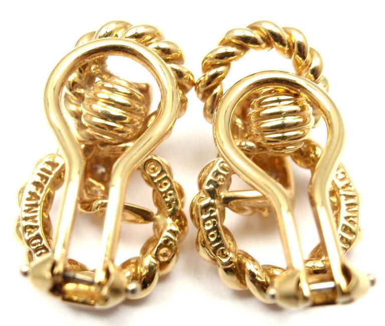 Tiffany & Co. Diamond Gold Earrings 4