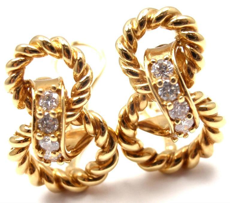 Tiffany & Co. Diamond Gold Earrings 2