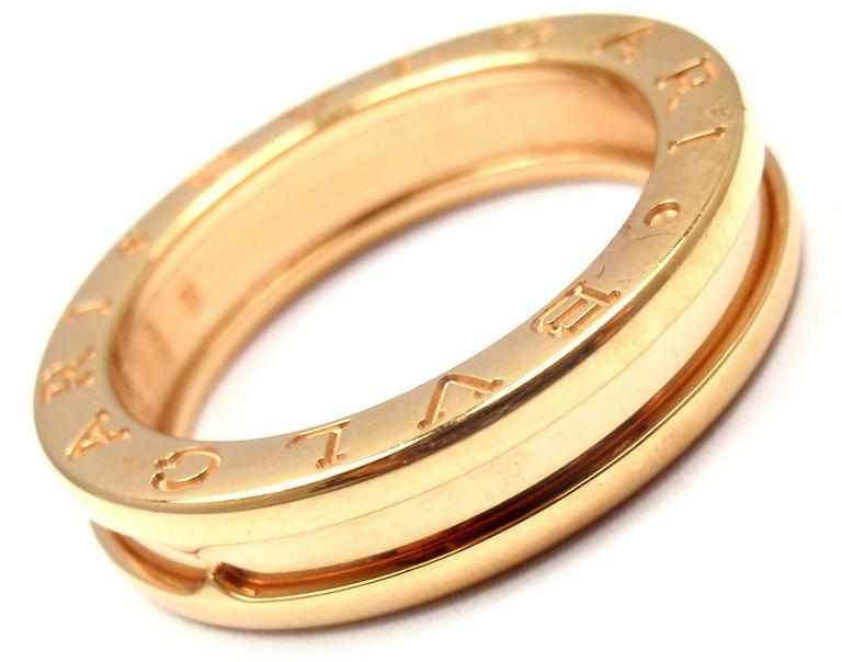 Bulgari B Zero Gold Band Ring at 1stdibs