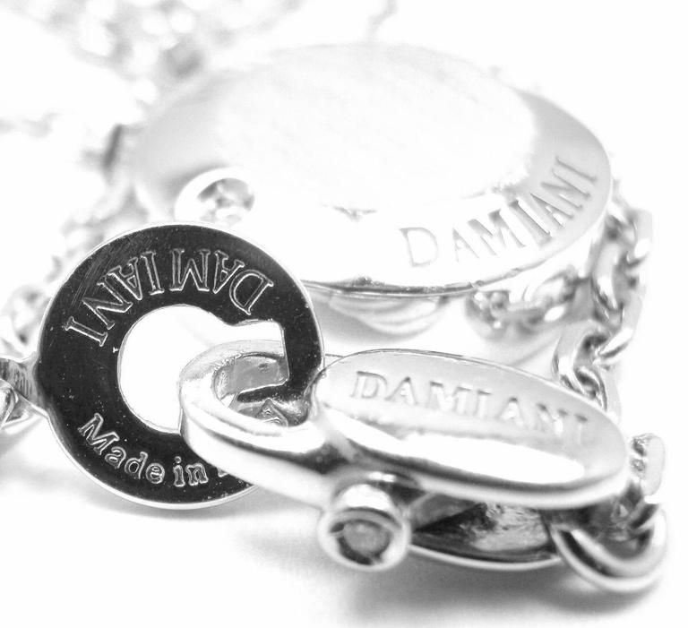 Damiani BLASONI Diamond White Gold Pendant Necklace For Sale 2