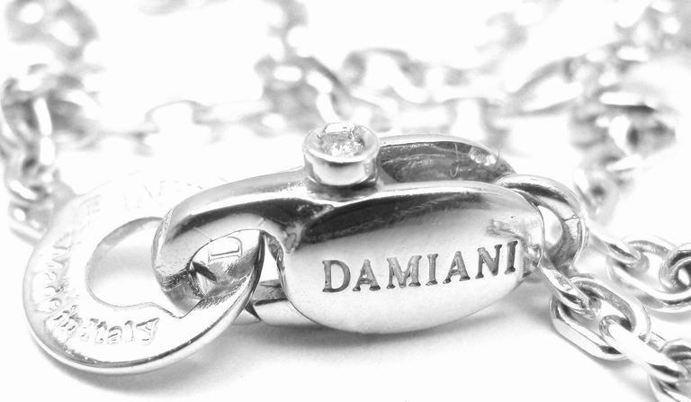 Damiani BLASONI Diamond White Gold Pendant Necklace For Sale 3