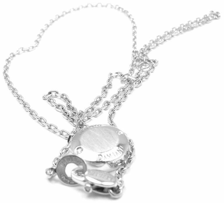 Damiani BLASONI Diamond White Gold Pendant Necklace For Sale 4