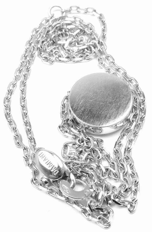 Damiani BLASONI Diamond White Gold Pendant Necklace For Sale 1