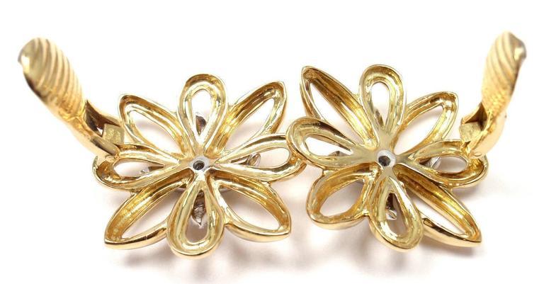 Tiffany & Co. Large Diamond Gold Earrings 6