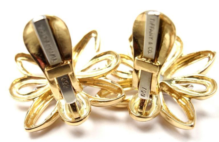Tiffany & Co. Large Diamond Gold Earrings 4