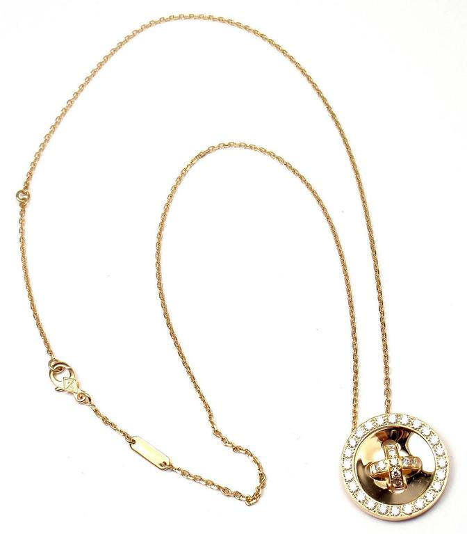 Van Cleef & Arpels Diamond Gold Button Pendant Necklace 2