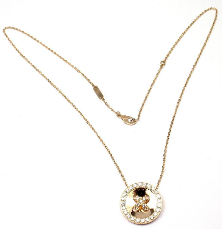Van Cleef & Arpels Diamond Gold Button Pendant Necklace 4
