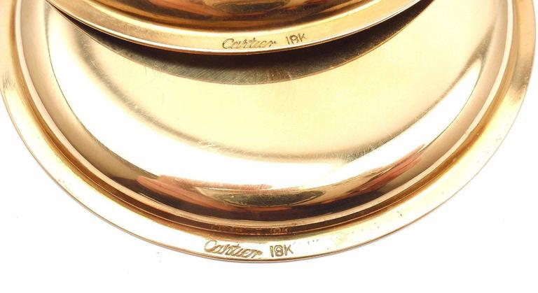 Cartier Set Of Four Gold Coasters In As new Condition For Sale In Southampton, PA