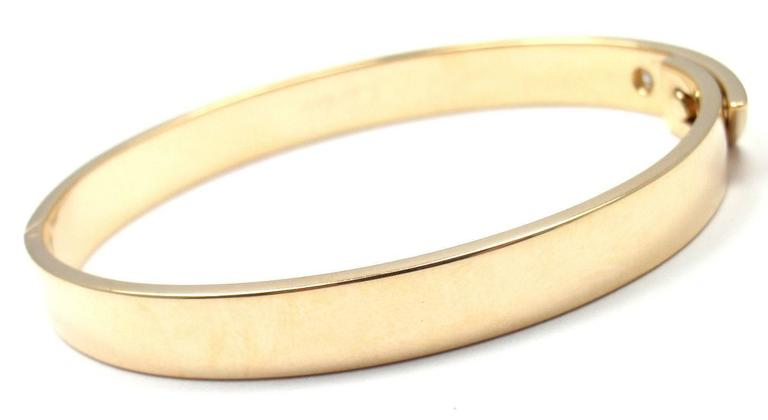 596a150c0ebe 18k Yellow Gold Diamond Anniversary Bangle Bracelet By Cartier. Size 16.  This bracelet comes