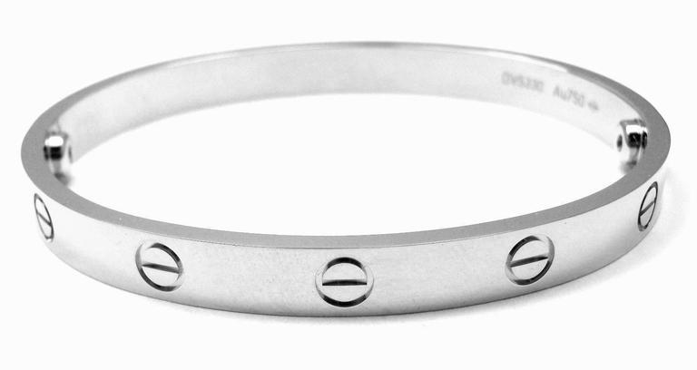 e04fb9f9a895b Cartier Love Gold Bangle Bracelet Size 17