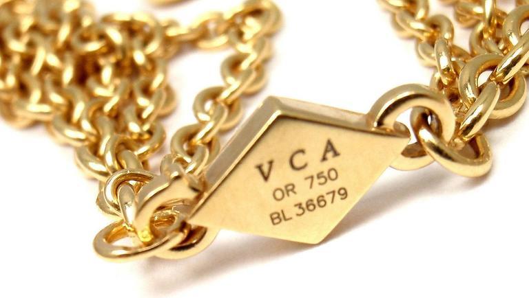 Van Cleef & Arpels Gold Graduated Fringe Link Necklace For Sale 2