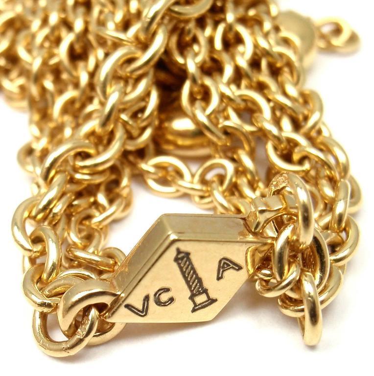 Women's Van Cleef & Arpels Gold Graduated Fringe Link Necklace For Sale