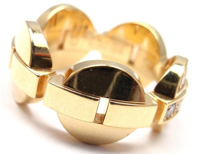 Cartier Himalia Diamond Gold Band Ring 2