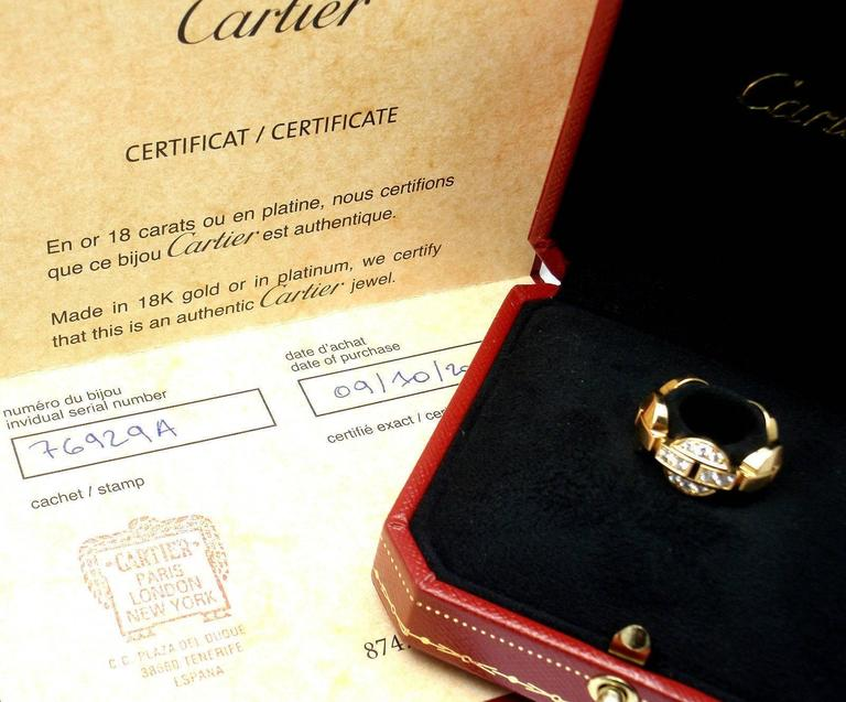 Cartier Himalia Diamond Gold Band Ring 4