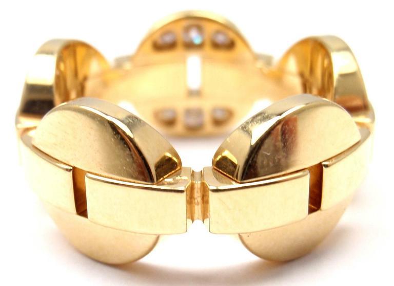 Cartier Himalia Diamond Gold Band Ring 3
