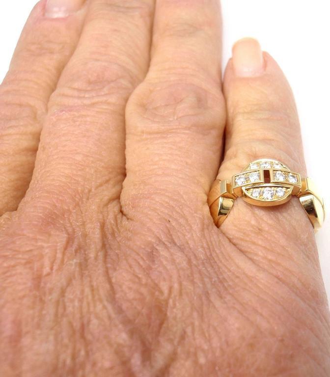 Cartier Himalia Diamond Gold Band Ring 9