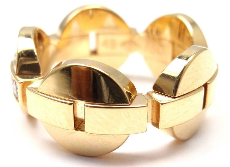 Cartier Himalia Diamond Gold Band Ring 8