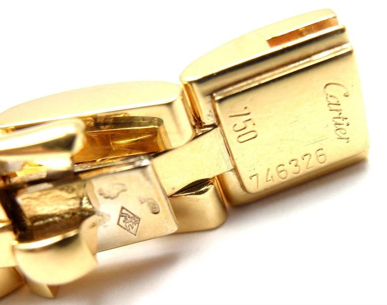 Cartier Maillon Panthere 3 Row Link Gold Bracelet  For Sale 1
