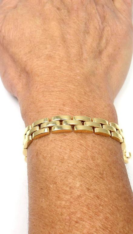 Cartier Maillon Panthere 3 Row Link Gold Bracelet  For Sale 4