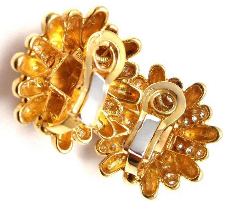 Cartier Aldo Cipullo Citrine Diamond Gold Earrings 7