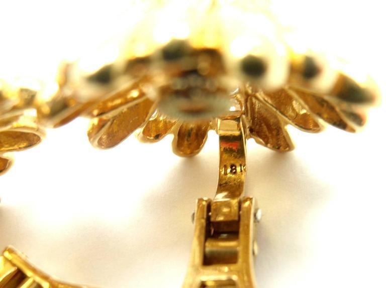 Cartier Aldo Cipullo Citrine Diamond Gold Earrings 8