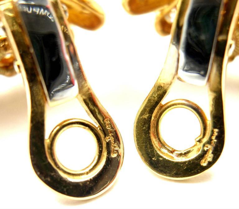 Cartier Aldo Cipullo Citrine Diamond Gold Earrings 9