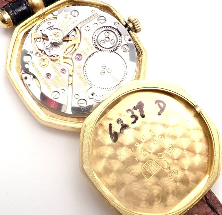 Van Cleef & Arpels Jaeger Lecoultre His And Hers  Set  Gold Wristwatches For Sale 6