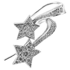 Chanel Comete Diamond Gold Star Earrings