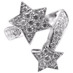 Chanel Comete Diamond Gold Star Ring