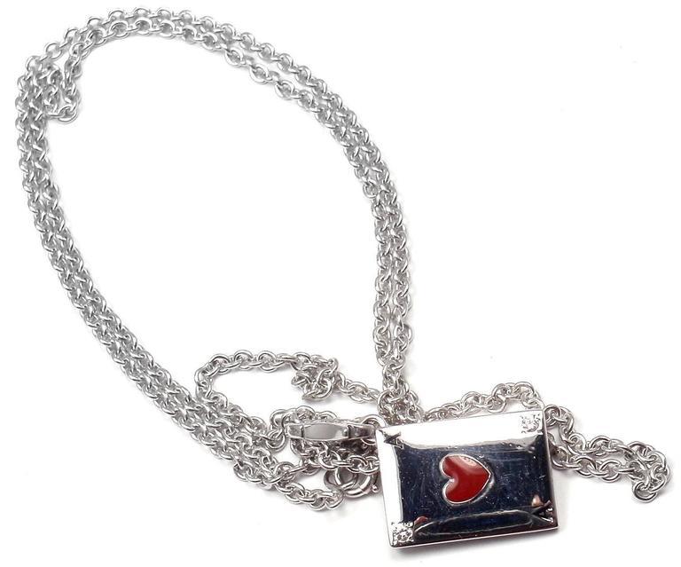Cartier Diamond Ace Of Hearts Card Gold Pendant Necklace 5