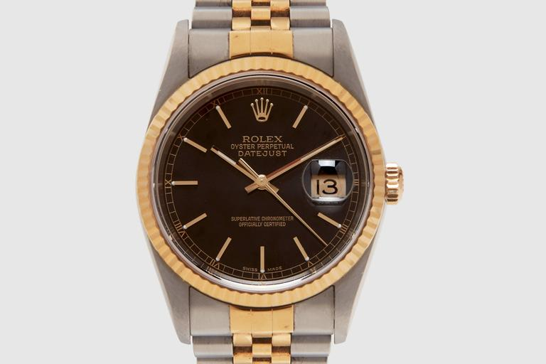 Rolex Gold Stainless Steel Oyster Perpetual Datejust Wristwatch Ref 16223 2