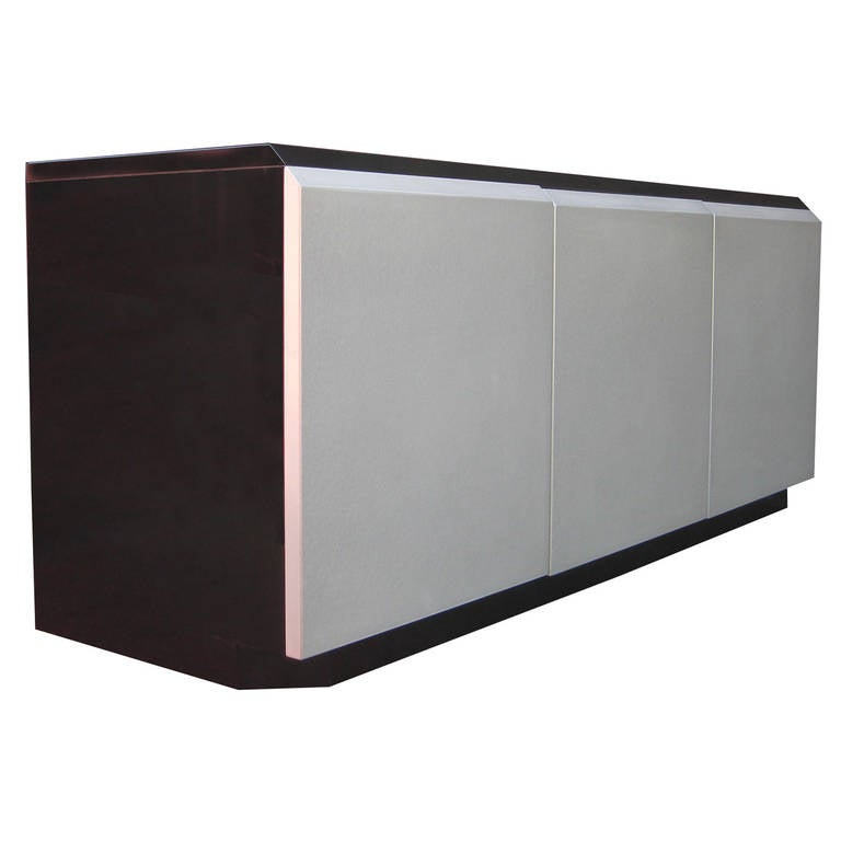 Canadian Glamorous Iridescent Lacquered Credenza by Rougier