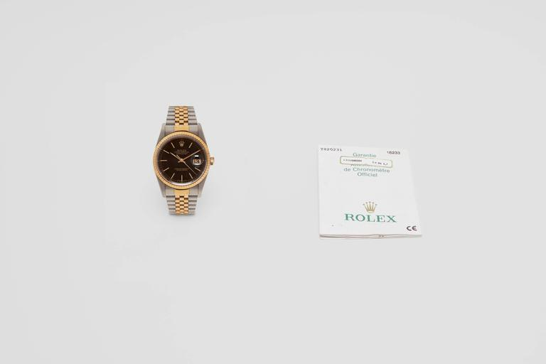 Rolex Gold Stainless Steel Oyster Perpetual Datejust Wristwatch Ref 16223 3