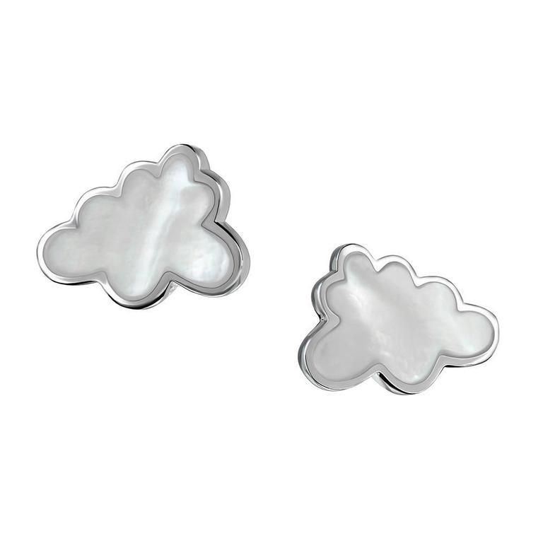 TPL Silver Mother-of-Pearl Cloud Earrings