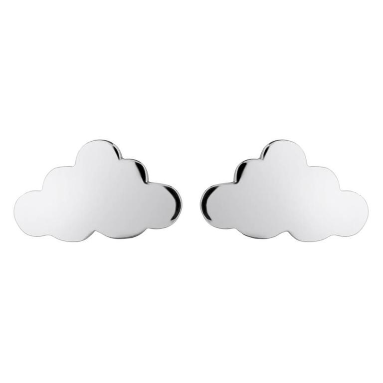Sterling Silver Cloud Stud Earrings 3