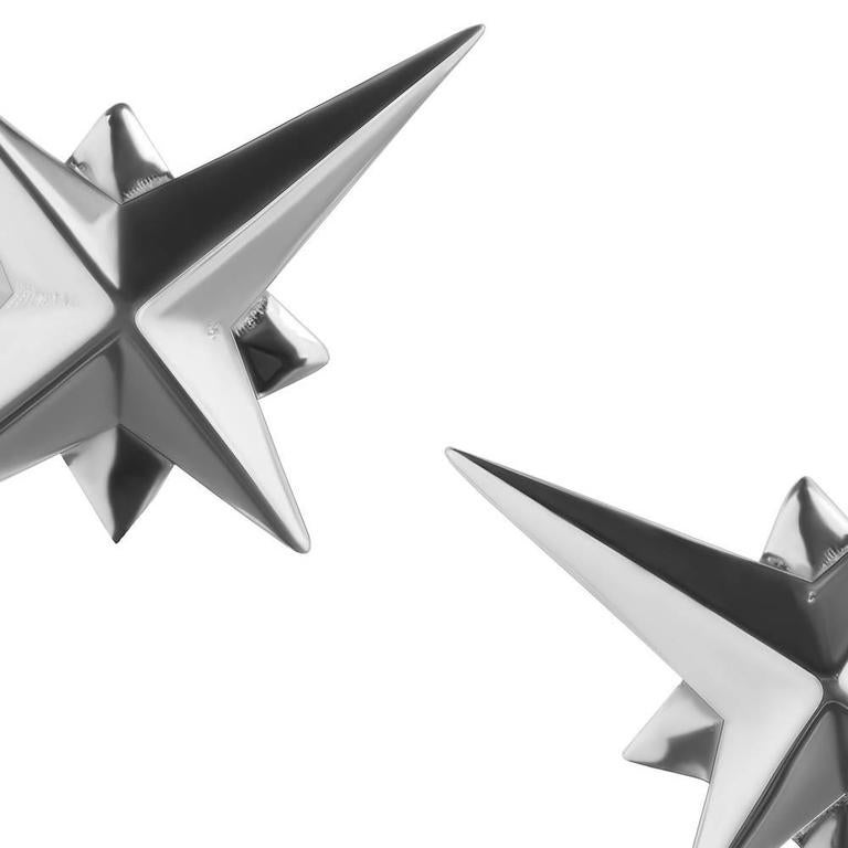 Contemporary Tessa Packard London, Sterling Silver Star Ear Studs For Sale