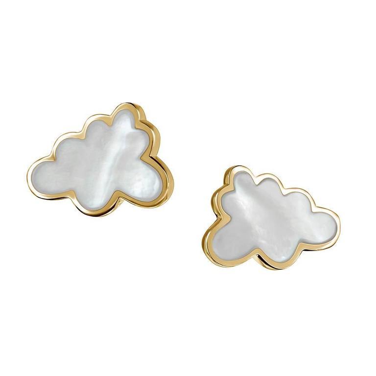 TPL Vermeil Mother-of-Pearl Cloud Earrings