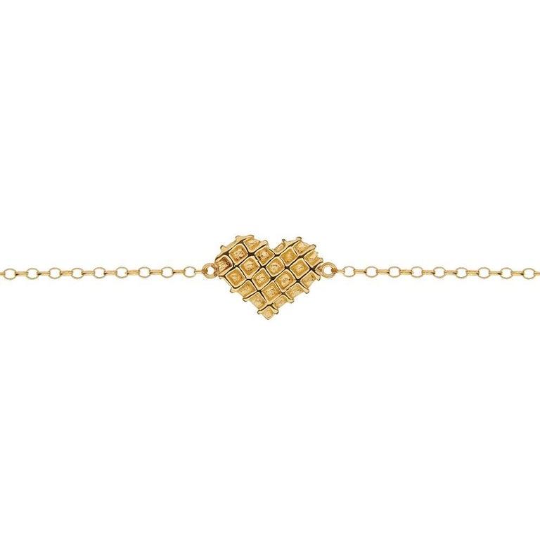 TPL Vermeil Heart Chain Bracelet