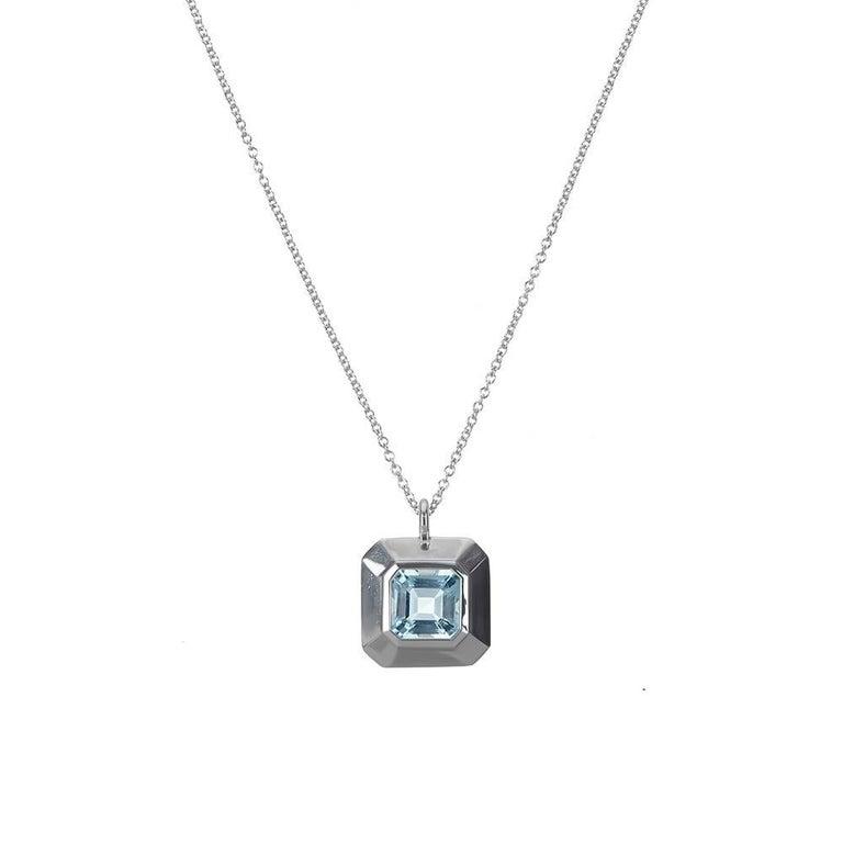 TPL Silver Topaz Pendant Necklace