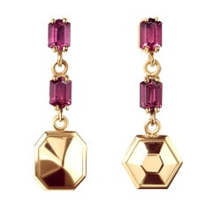 TPL Vermeil Rhodolite Drop Earrings