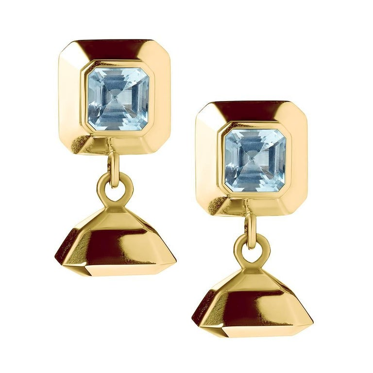 TPL Vermeil Topaz Drop Earrings