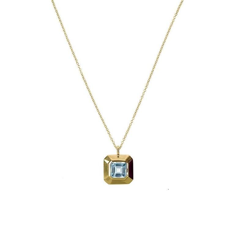 TPL Vermeil Topaz Pendant Necklace