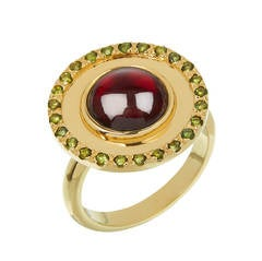 Tourmaline Garnet Gold Ring