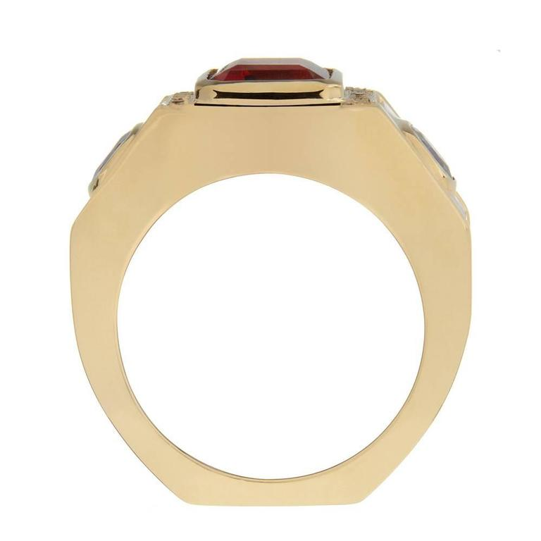 Garnet Sapphire Citrine Gold Ring 2