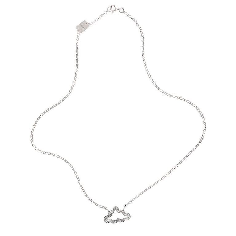 Diamond and Sterling Silver Necklace 2