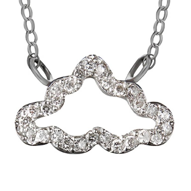 Diamond and Sterling Silver Necklace 3