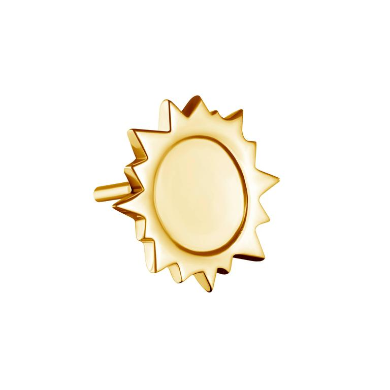 Gold Vermeil Sterling Silver Sun Earrings 2