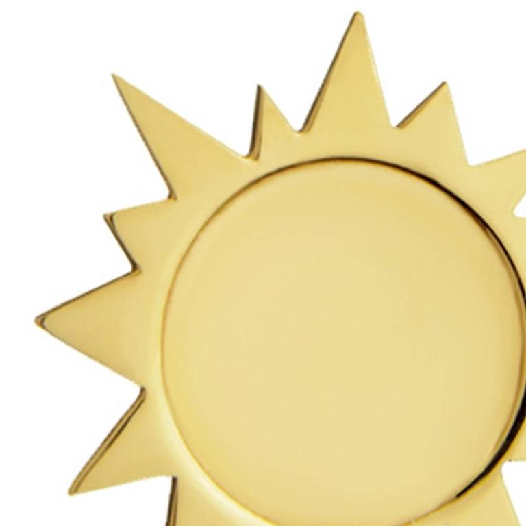 Contemporary TPL Vermeil Sun Stud Earrings For Sale