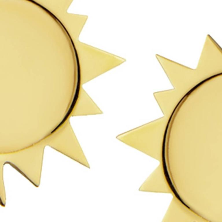 Gold Vermeil Sterling Silver Sun Earrings 4