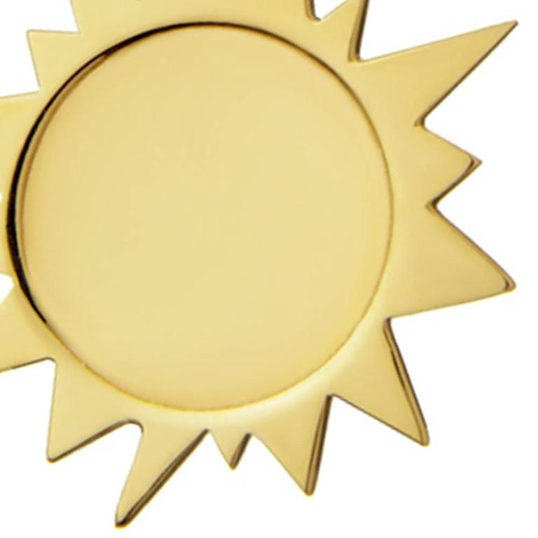 Gold Vermeil Sterling Silver Sun Earrings 5